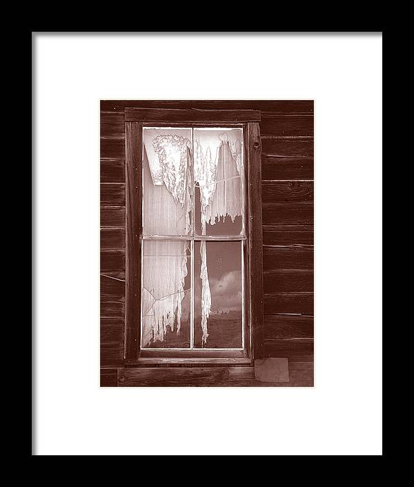 Bodie Framed Print featuring the photograph Bodie Window by Mauverneen Blevins