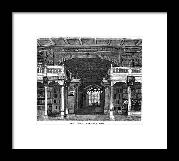 Building Framed Print featuring the photograph Bodleian Library, 19th Century Artwork by Middle Temple Library