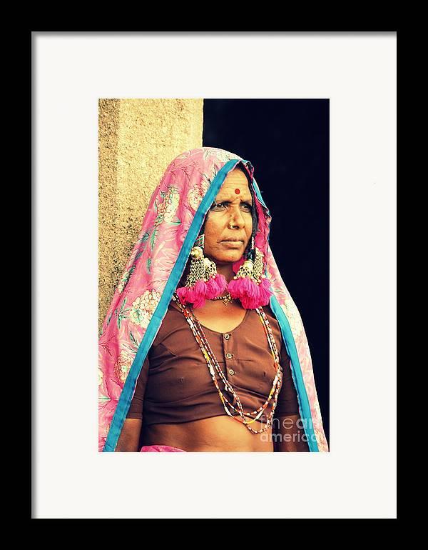 Portrait Framed Print featuring the photograph Bohemian by Vishakha Bhagat