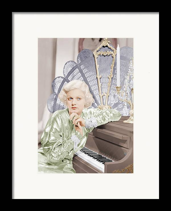 1930s Movies Framed Print featuring the photograph Bombshell, Jean Harlow, 1933 by Everett