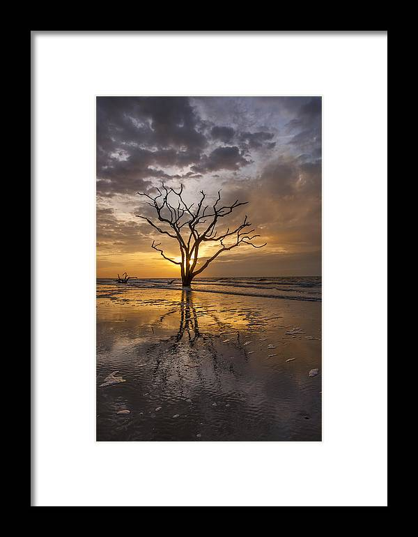 Botany Bay Framed Print featuring the photograph Boneyard Sunrise by Joseph Rossbach
