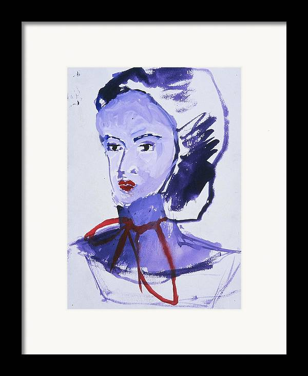 Fine Art Framed Print featuring the painting Bonnet by Iris Gill