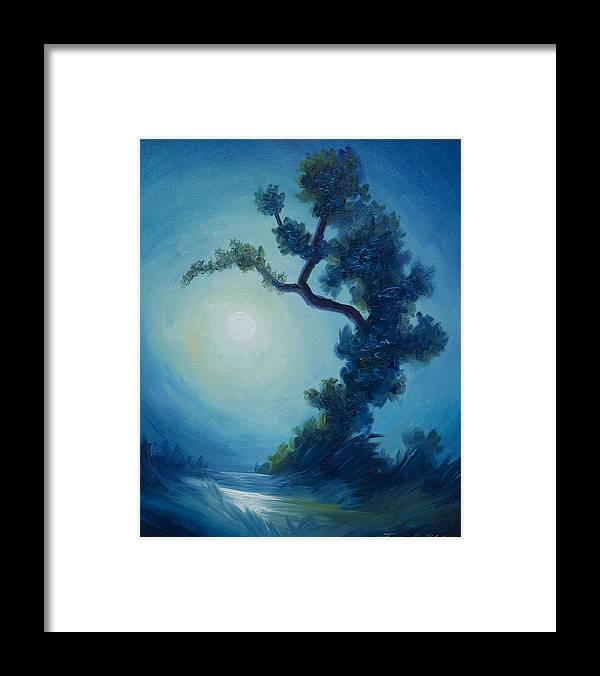 Nature Framed Print featuring the painting Bonsai I by James Christopher Hill