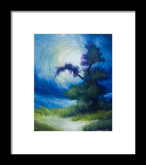 Nature Framed Print featuring the painting Bonzai II by James Christopher Hill