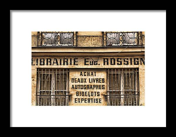 Provence Framed Print featuring the photograph Book Seller Provence by Christopher Brown