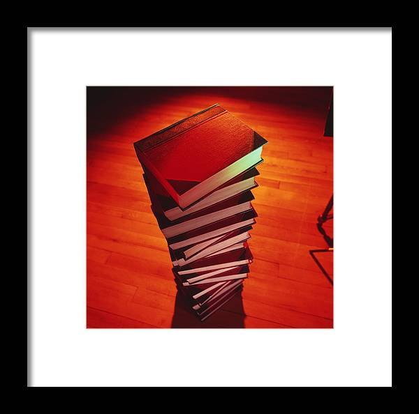 Books Framed Print featuring the photograph Books by Tek Image