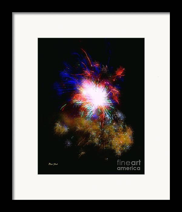 Fireworks Framed Print featuring the digital art Born On The 4th Of July by Dale  Ford