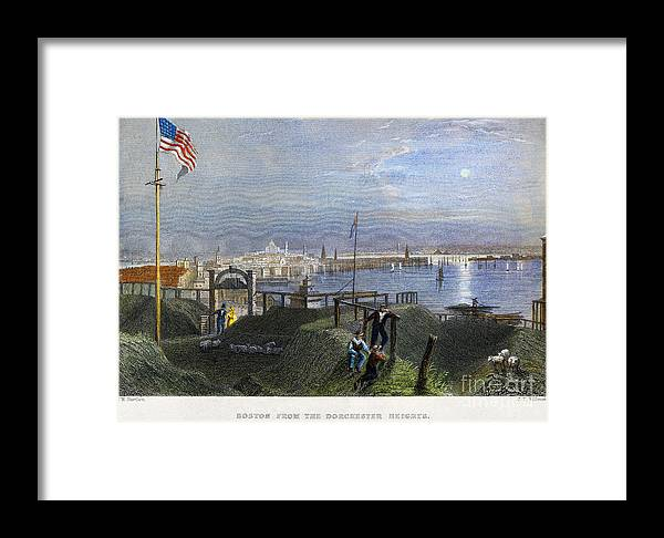 1838 Framed Print featuring the photograph Boston, Mass., 1838 by Granger