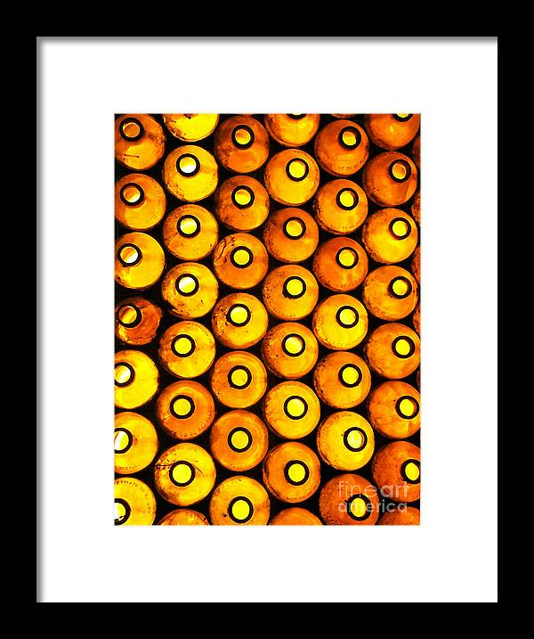 Bottles Framed Print featuring the photograph Bottle Pattern by Nareeta Martin