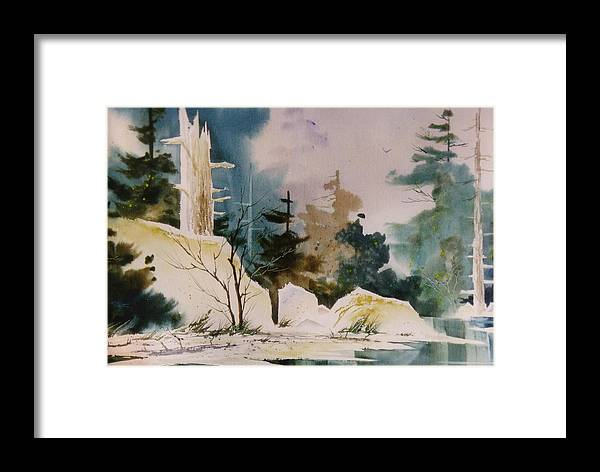 Landscape Framed Print featuring the painting Boundary Waters by Bob Cox