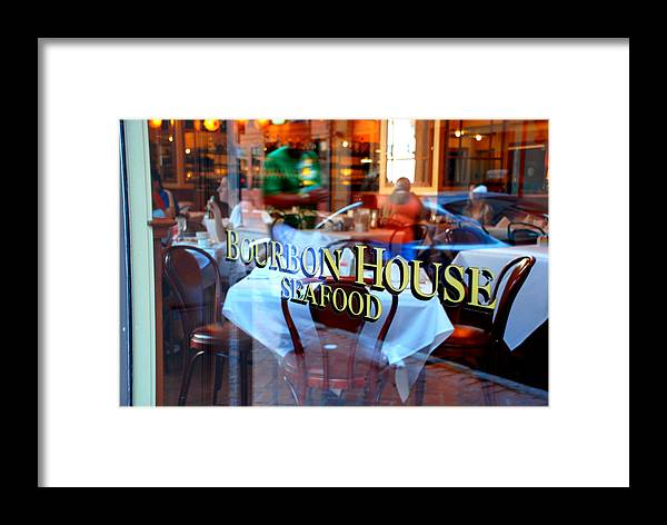 Bourbon House Seafood Framed Print featuring the photograph Bourbon House by Jennifer Kelly