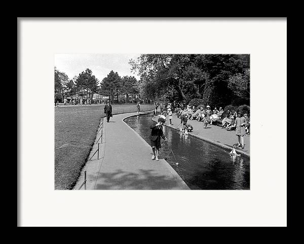 Child Framed Print featuring the photograph Bournemouth Park by Alfred Hind Robinson