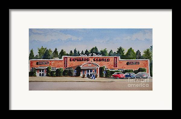Framed Print featuring the painting Bowling Center by Andrea Timm