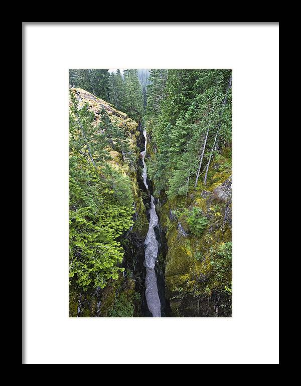 Mp Framed Print featuring the photograph Box Canyon With Flowing Stream, Mount by Konrad Wothe
