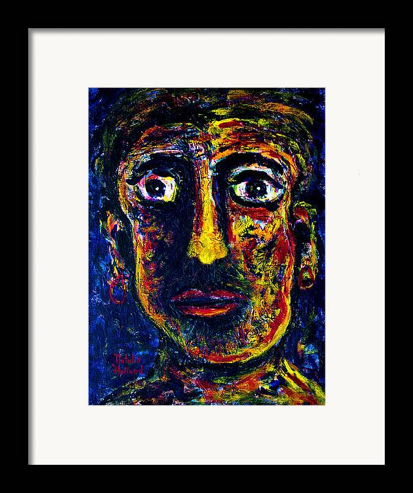 Boxer Framed Print featuring the painting Boxer by Natalie Holland