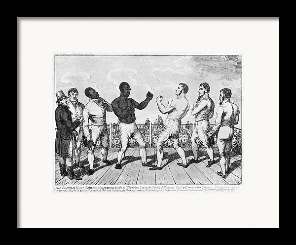 1811 Framed Print featuring the photograph Boxing: Cribb V. Molineaux by Granger