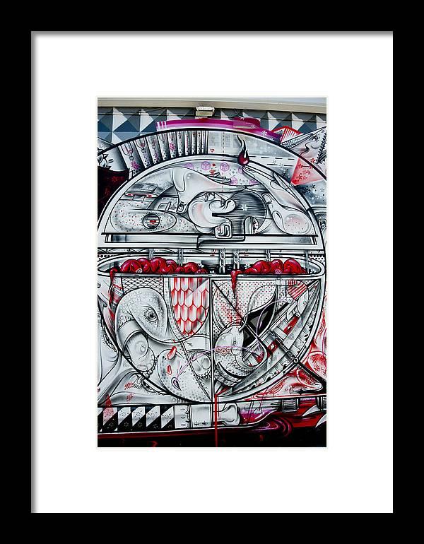 Graffiti Framed Print featuring the photograph Brain Spillover by Armando Perez