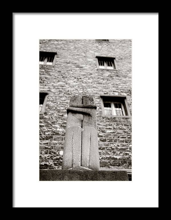 Love Framed Print featuring the photograph Brancusi The Kiss by Shaun Higson