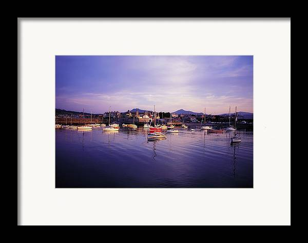 Boat Framed Print featuring the photograph Bray Harbour, Co Wicklow, Ireland by The Irish Image Collection