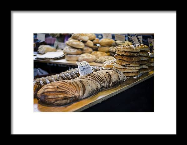 Bread Framed Print featuring the photograph Bread Market by Heather Applegate