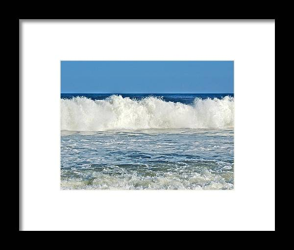 Waves Framed Print featuring the photograph Break Away by Eve Spring