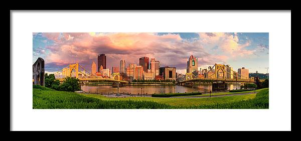 Pittsburgh Framed Print featuring the photograph Break Open The Skies by Jennifer Grover