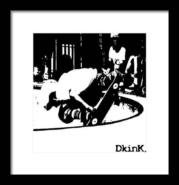 Skateboarding Framed Print featuring the photograph Breech Of Concrete by Douglas Kriezel