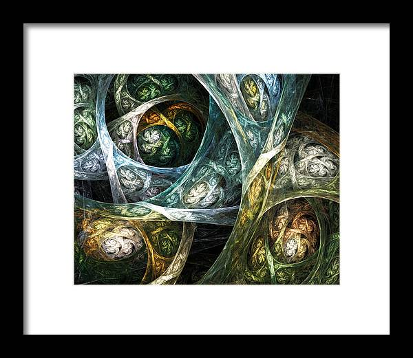 Fractal Framed Print featuring the digital art Breezing by Drake Lock