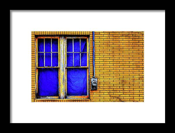 Yellow Framed Print featuring the photograph Bricks by James Bull
