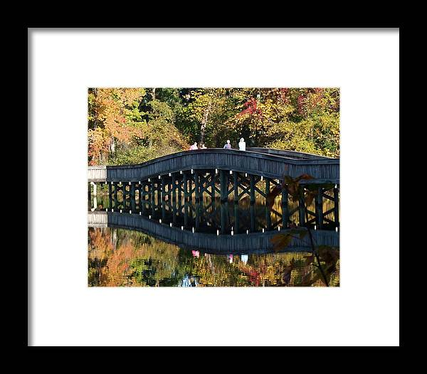 Fall Framed Print featuring the photograph Bridge 3 by Larry Krussel