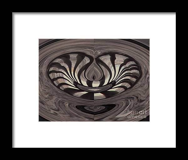 Abstract Framed Print featuring the photograph Bridge Abstract 03 by Rrrose Pix