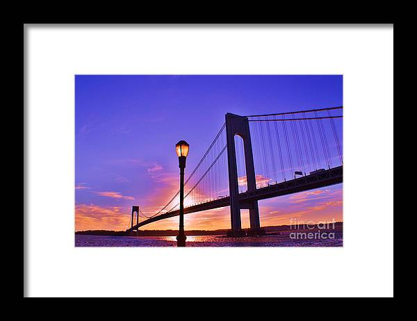 Sky Framed Print featuring the photograph Bridge At Sunset 2 by Artie Wallace
