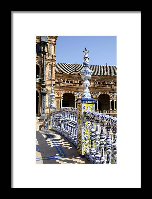 Arches Framed Print featuring the photograph Bridge Of The Spanish Square In Seville by Perry Van Munster