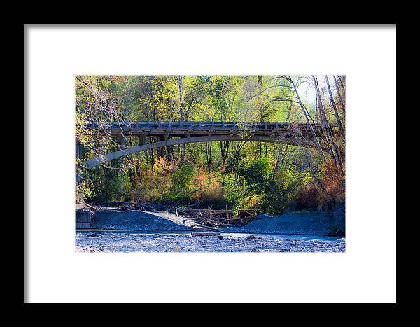 Elwha River Framed Print featuring the photograph Bridge Over The Elwha by Marie Jamieson