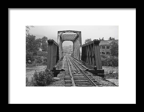 Cumbres & Toltec Framed Print featuring the photograph Bridging The River by Tim Mulina