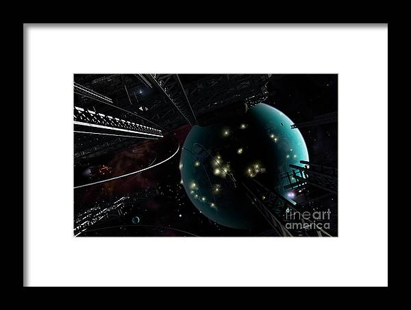 Artwork Framed Print featuring the digital art Bright Blisters Of Nuclear Energy by Brian Christensen