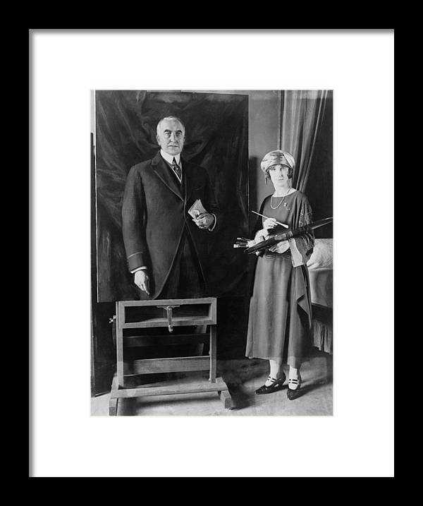 Historical Framed Print featuring the photograph British Artist, Margaret Lindsay by Everett