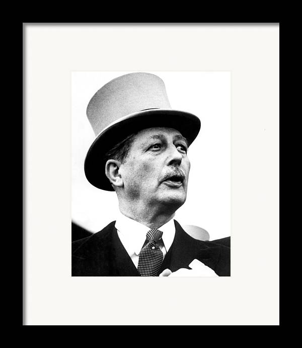1950s Framed Print featuring the photograph British Prime Minister Harold by Everett