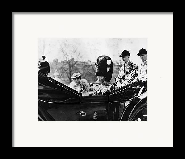 1930s Framed Print featuring the photograph British Royal Family. Center, From Left by Everett