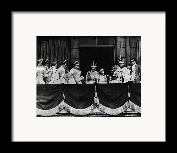 1930s Framed Print featuring the photograph British Royal Family. From Center, L-r by Everett