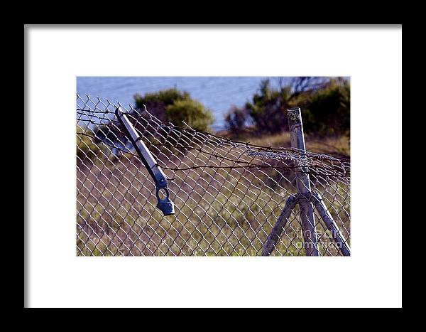Fence Framed Print featuring the photograph Broken Fence by Polly Villatuya