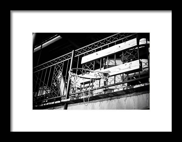 Window Framed Print featuring the photograph Broken Hoops by Paul Bartoszek