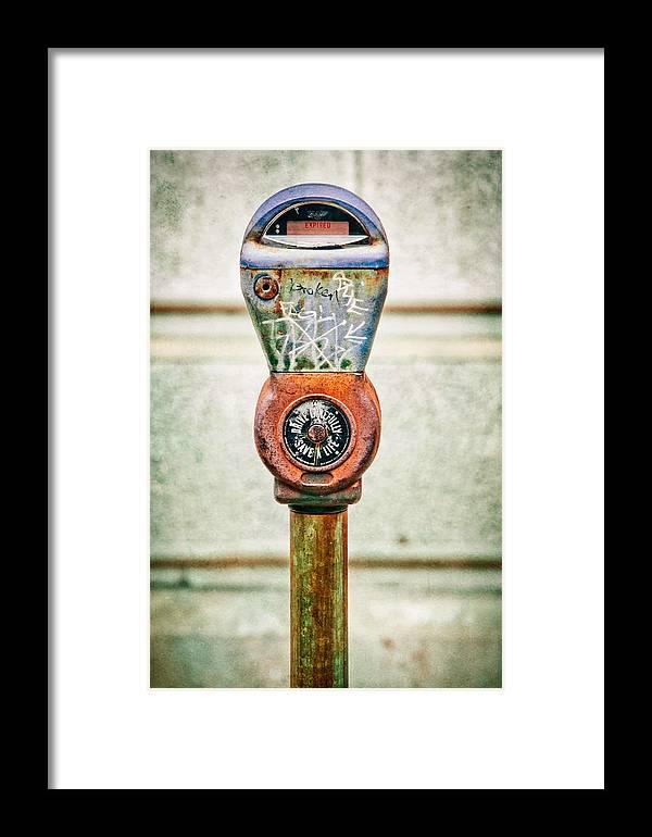 Broken Meter Framed Print featuring the photograph Broken Meter by Stacey Granger