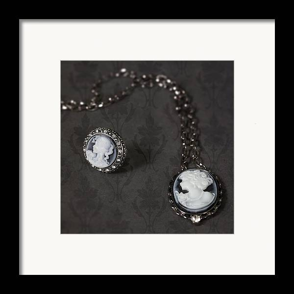 Brooch Framed Print featuring the photograph Brooch And Necklace by Joana Kruse