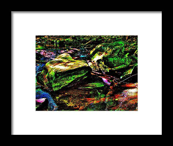 Landscape Framed Print featuring the photograph Brook Texture 127 by George Ramos