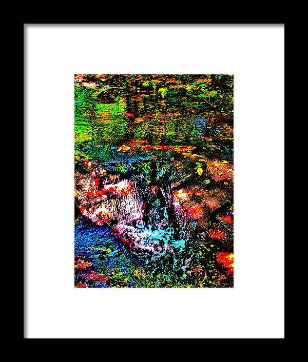 Landscape Framed Print featuring the photograph Brook Texture 133 by George Ramos