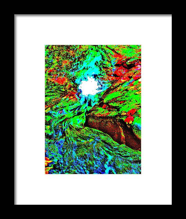 Landscape Framed Print featuring the photograph Brook Texture 145 by George Ramos