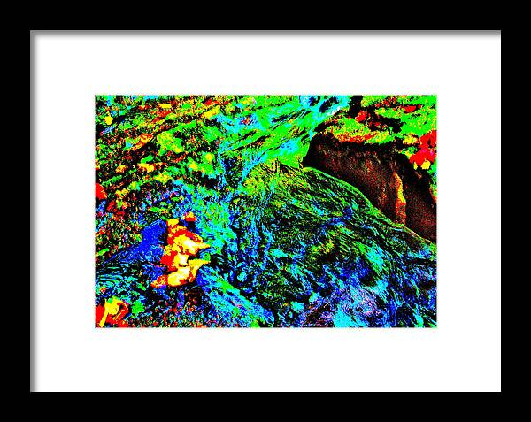 Landscape Framed Print featuring the photograph Brook Texture 146 by George Ramos