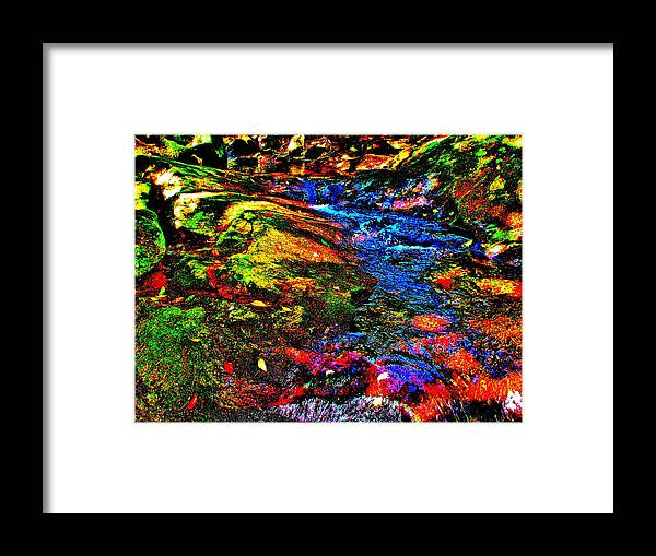 Landscape Framed Print featuring the photograph Brook Texture 52 by George Ramos