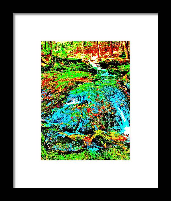 Landscape Framed Print featuring the photograph Brook Texture 85 by George Ramos